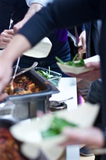 Lasagne und Salat