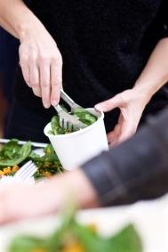 Spinat-Kürbis Salat
